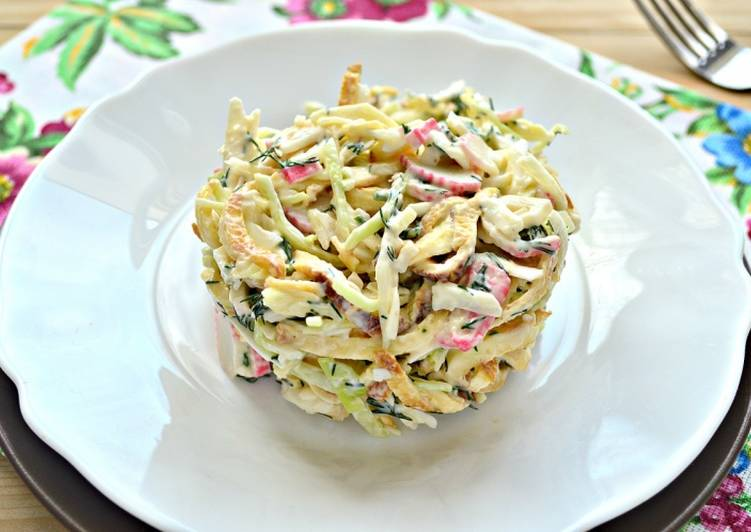Салат с блинчиками из яиц