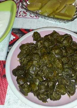 Долма из виноградных листьев. #кулинарныймарафон