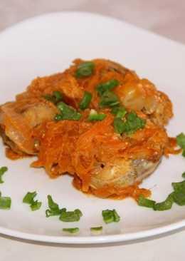 Минтай тушеный с морковью и луком - рецепт