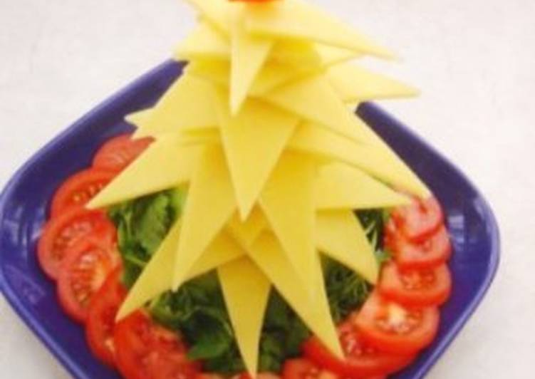 Ёлочка из сыра к Новогоднему столу