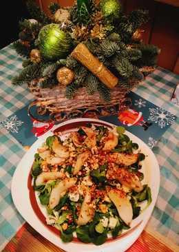 Салат праздничный с грушей и сыром