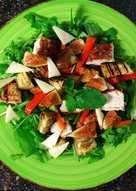 Салат гриль с инжиром🍆баклажаном & куриной грудкой