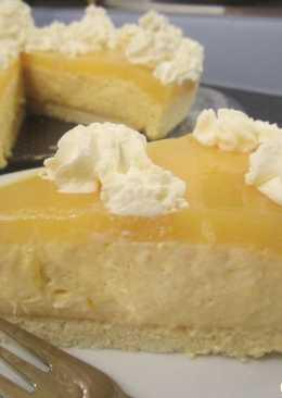 Манговый творожный торт-суфле с апельсиновым желе