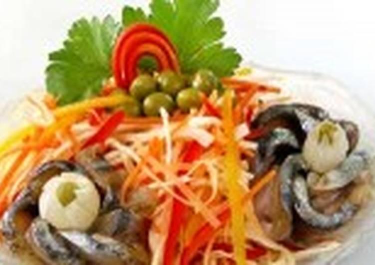 Салат с рыбой холодного копчения