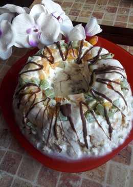 Торт из зефира и фруктов!