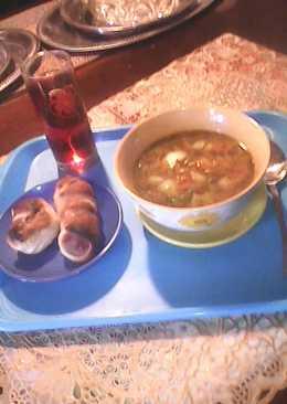 Овощной супчик в мультиварке с сосисками в пелёнках