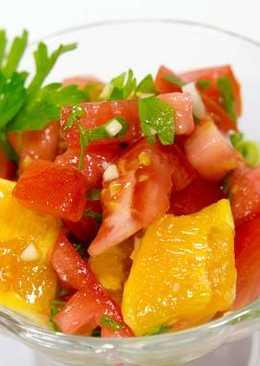 ФИТНЕС САЛАТ С АПЕЛЬСИНАМИ И ПОМИДОРАМИ \ Диетический салат с помидорами \ Салат с апельсинами