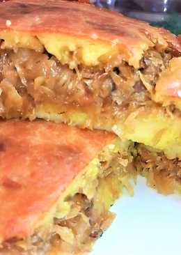 Пирог с капустой. Заливной пирог. Очень удачный рецепт на раз два #чемпионатмира #россия