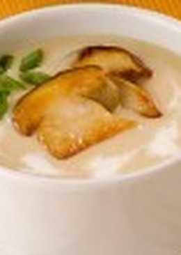 Молочный суп с овощами и грибами «Летний»