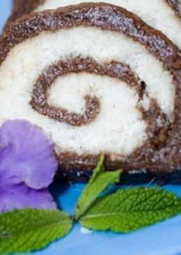 Новогодний десерт с печеньем «Баунти»