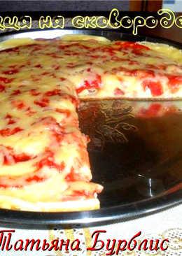 Пицца на сковородке за 20 минут