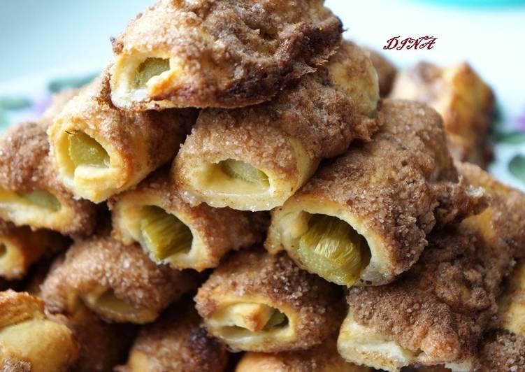 Песочное печенье с начинкой из ревеня
