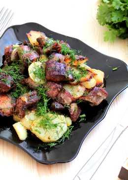 Свинина в духовке,запеченная с картофелем
