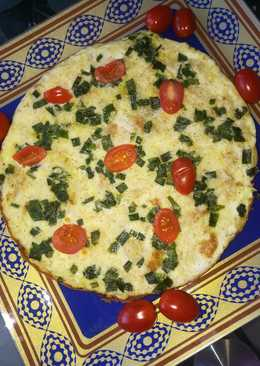 Пицца-омлет на завтрак