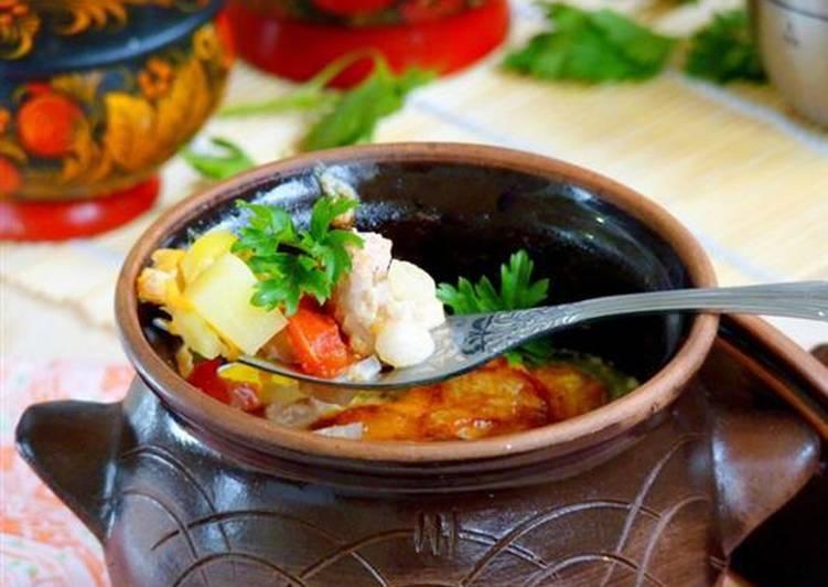 Мясо в горшочках с картошкой и сыром в духовке - пошаговый рецепт жаркое по домашнему