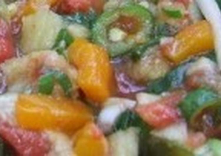 Теплый салат-соус к шашлыкам
