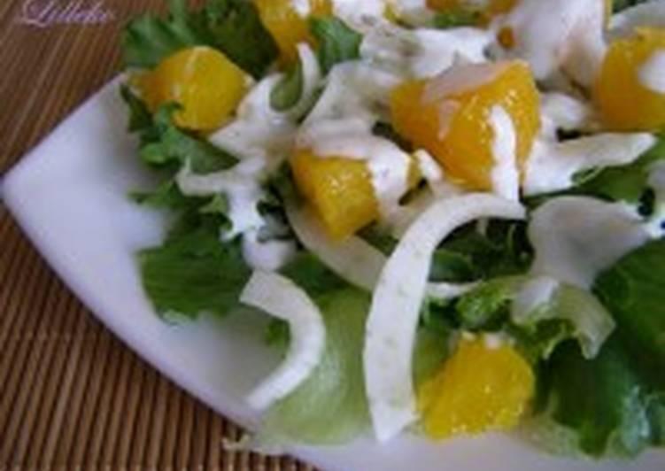 Салат из рыбы и фенхеля