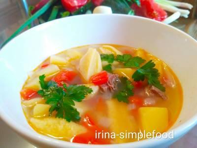 Картофельный суп с клецками #чемпионатмира #германия