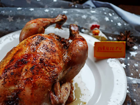 Курица фаршированная луком и грецкими орехами