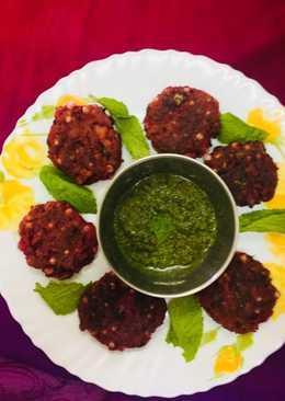 साबूदाना बीटरूट कबाब