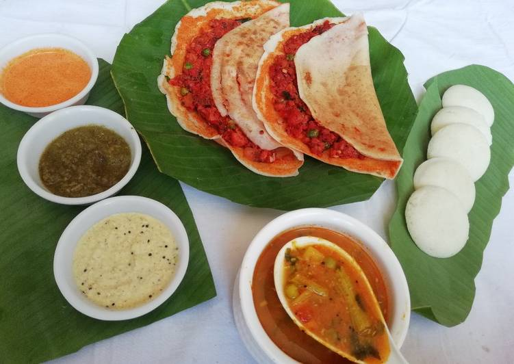 साउथ इंडियन प्लेटर (South Indian platter recipe in hindi)