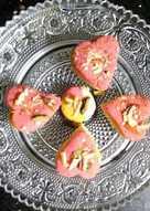 रोज कोकोनट केसरिया हार्ट (Rose coconut kesariya heart recipe in Hindi)