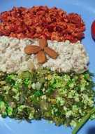 तिरंगी पनीर भुर्जी (tricolour paneer bhurji recipe in hindi)