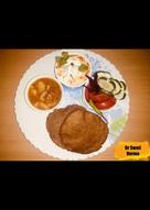 आलू का व्रत प्लैटर (आलू सब्जी, आलू रायता, कुट्टू आलू की पूरी)(aloo ka vrat plate recipe in hindi)