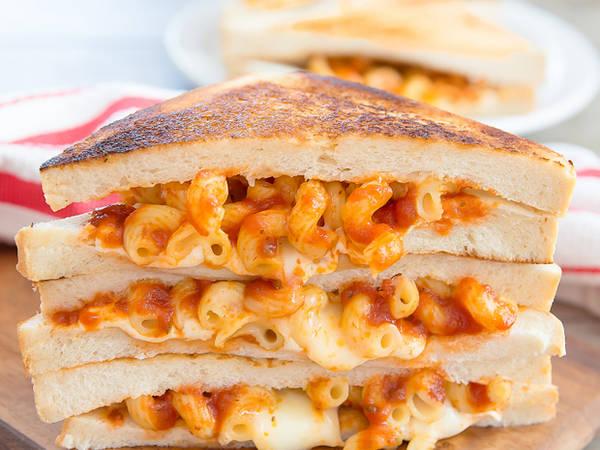 चीज पास्ता पनीर सैंडविच#सैंडविच