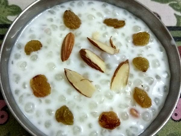 साबूदाना खीर (Sabudana kheer Recipe in Hindi)