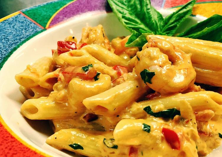Shrimp Diablo in Penne Pasta