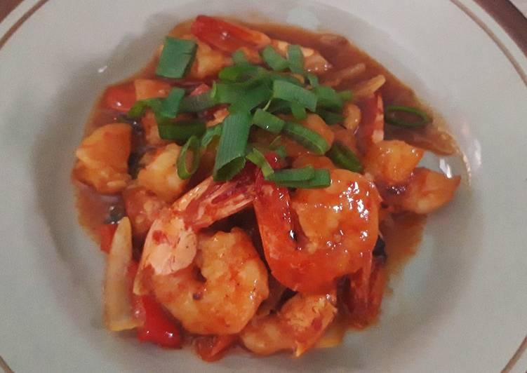 Udang asam manis simpel - cookandrecipe.com