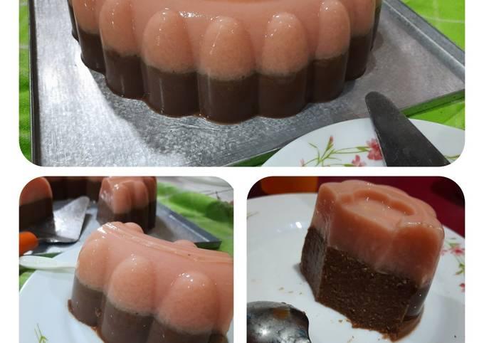 Puding Edamame Stroberi Coklat