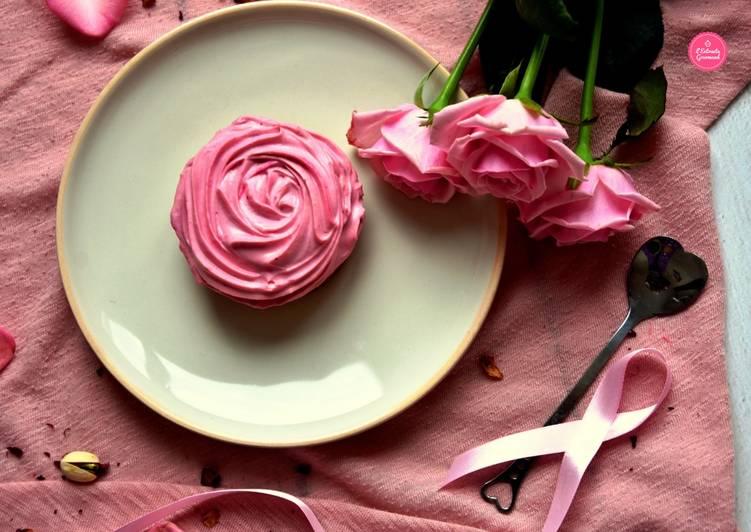 """Tartelettes """"Aïcha"""" pour octobre rose (pistache, framboise, rose)"""