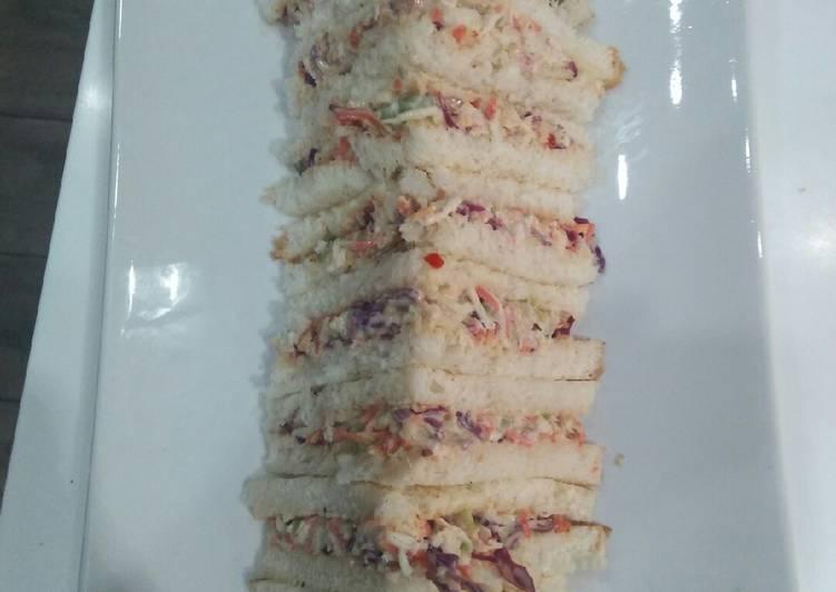 Rainbow chicken cold sandwich