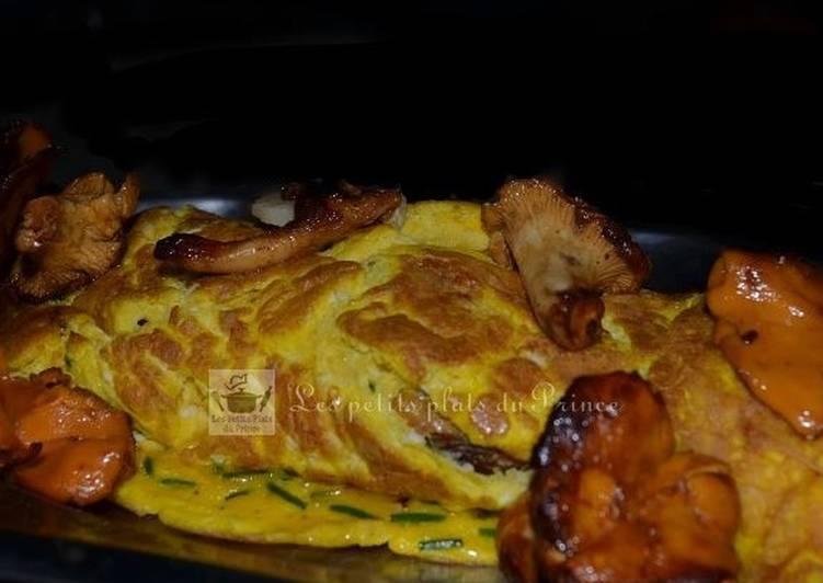 Omelette gourmande aux girolles