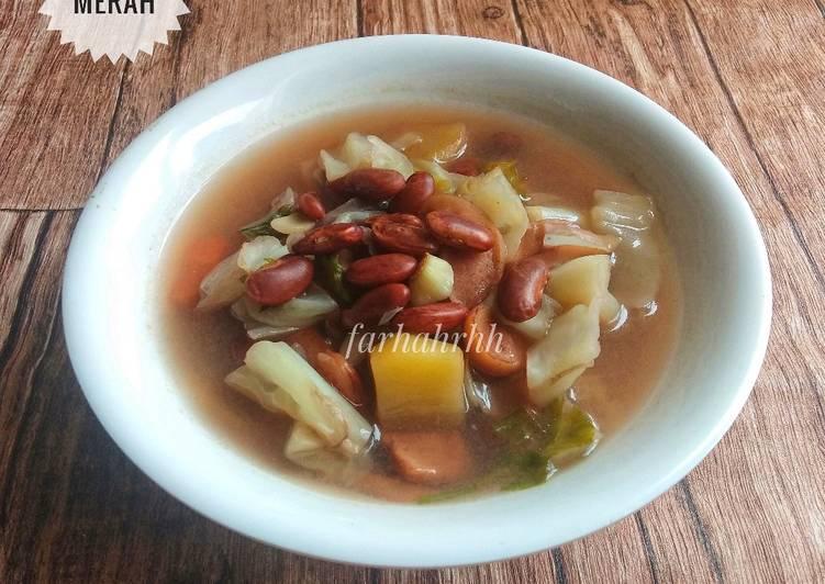 Sup Sosis Kacang Merah (Sehat dan Bergizi) #MenuAnakSehat
