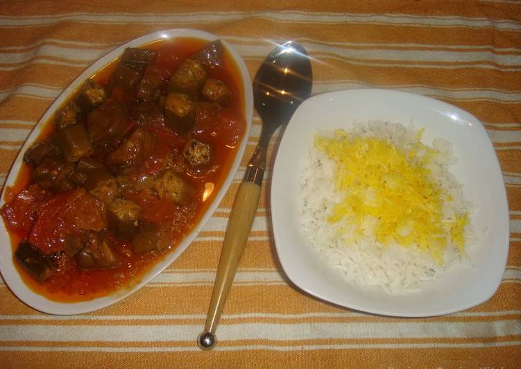 Persian Okra stew with beef