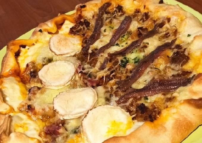 Pizza double saveur fait maison