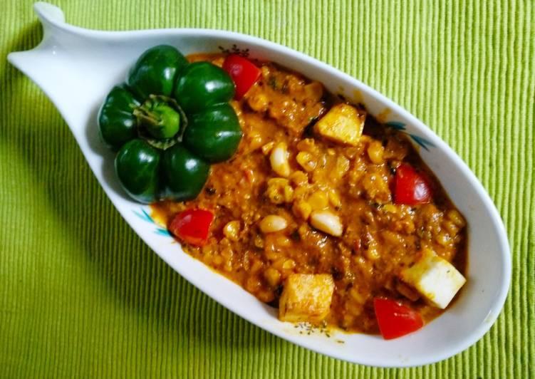 Corn Paneer Capsicum
