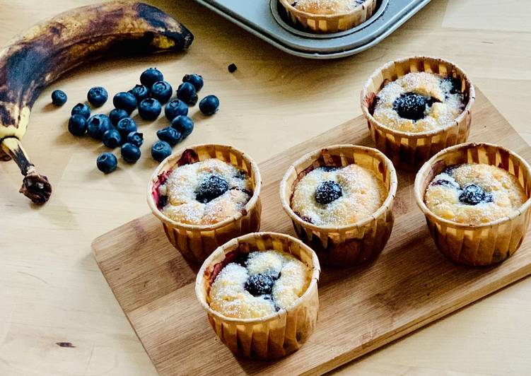 Muffins Banane Myrtille