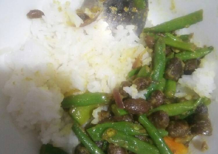 Easiest Way to Make Perfect Rice French beans/black beans