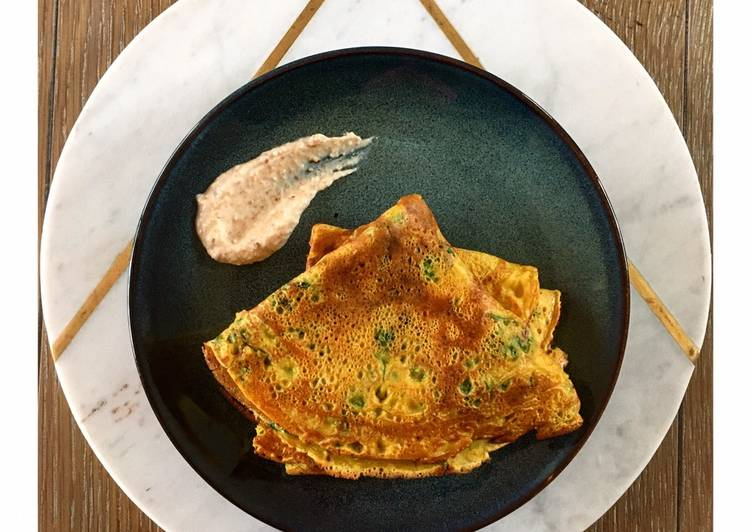 #vegan and #glutenfree #savoury #fenugreek (#methi) #pancakes