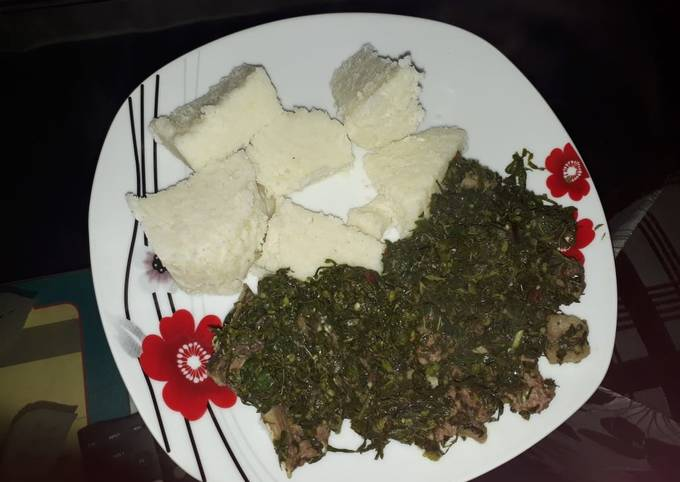 Ugali nyama-spinach #localfoodcontest_mombasa
