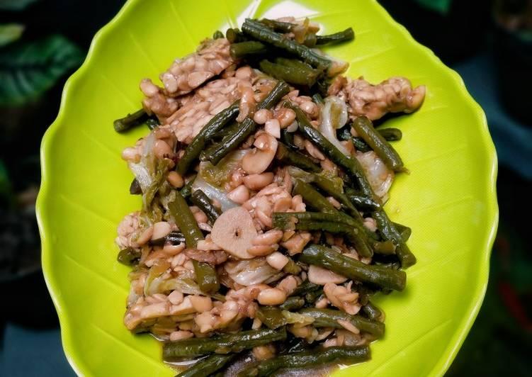 Tumis (Tempe Kacang Panjang & Sawi Pedas)