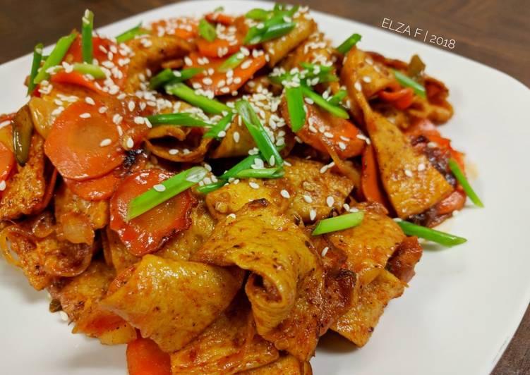 Resep Tumis Pedas Odeng Odeng Bokkum Oleh Elza Simple Kitchen Cookpad