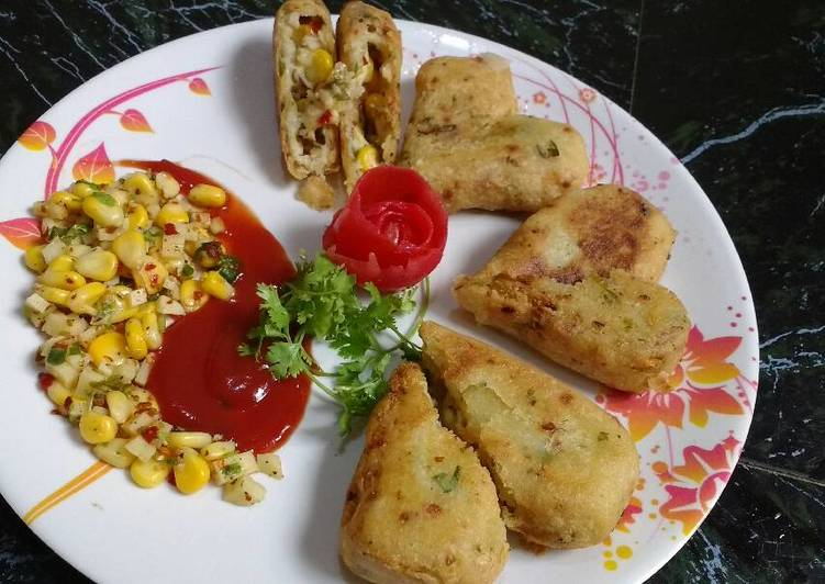 Recipe: Appetizing Stuffed Cheese Cutlets