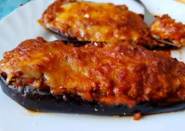 Recetas faciles berenjenas rellenas carne picada