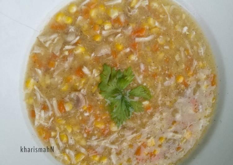 Cream Soup Jagung Ayam Simple Homemade