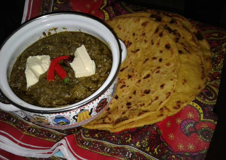 The Best Soft and Chewy Dinner Easy Refreshing Sarso ka saag and makai ki roti (my mother's recipe)
